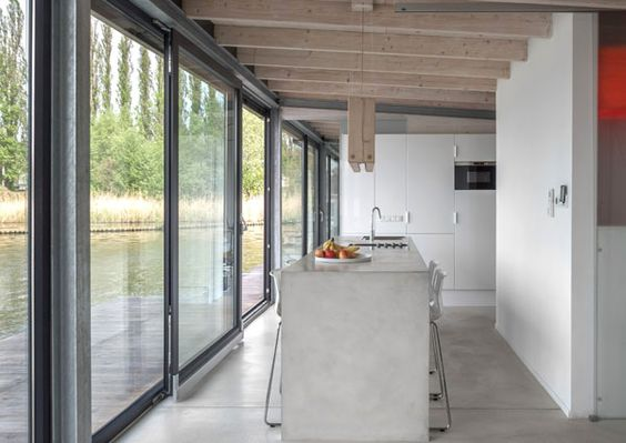 c Modern Houseboat