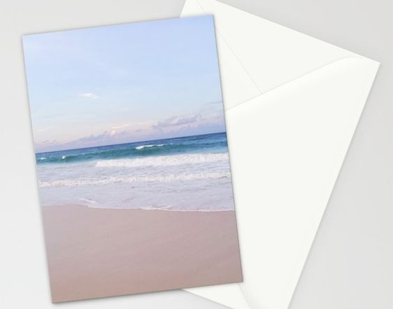 Lavender Beach + Shore Stationery Cards