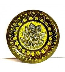 Contemporary Hand painted Floral Motif Plate