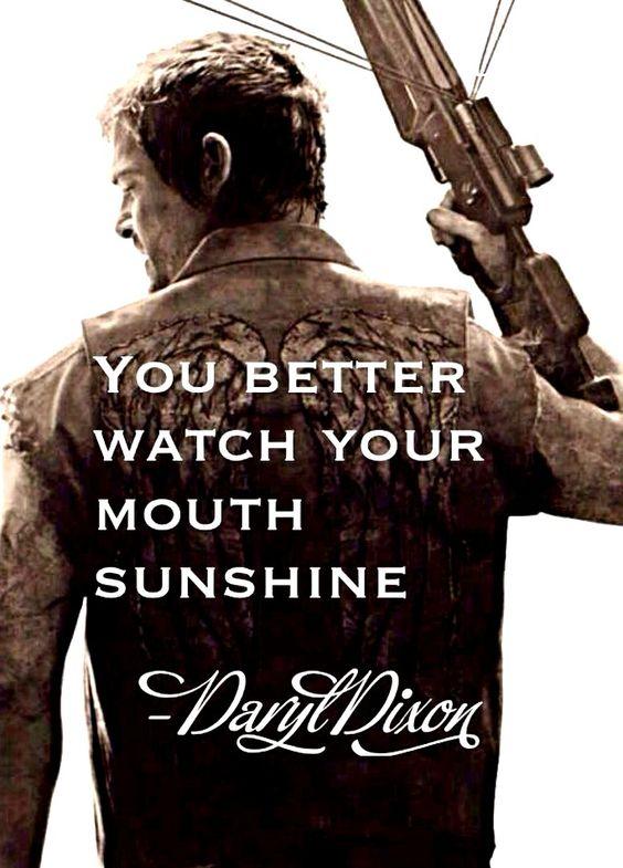 Daryl Dixon quote/fan art