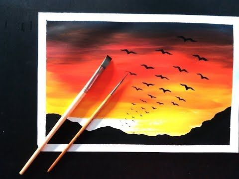 How To Make Easy Poster Colour Painting Ideas Youtube
