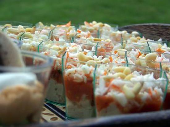 Verrine thon tomates surimi recette mousse - Idee verrine noel ...