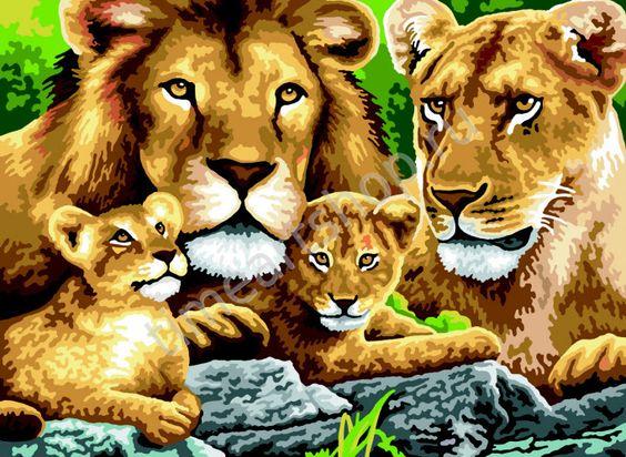 Прайд львов картина по №