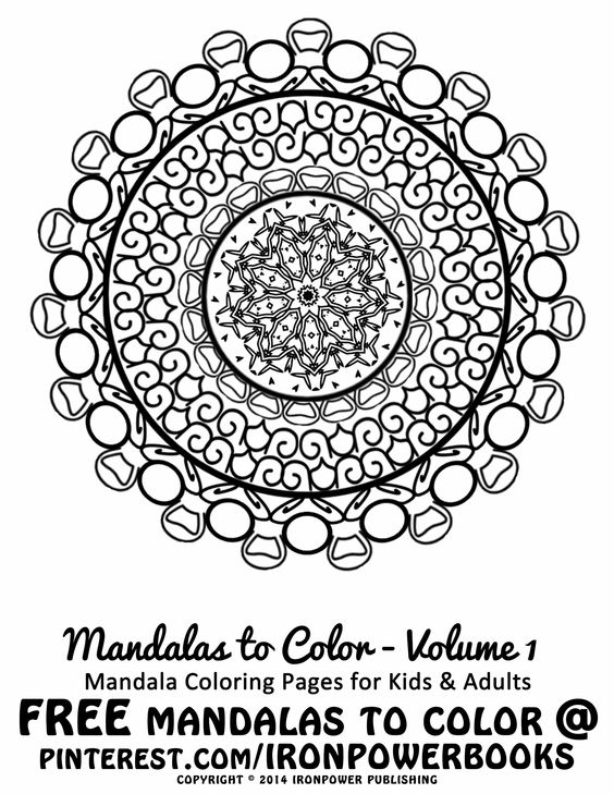FREE Easy Mandala Design Coloring Page For Kids