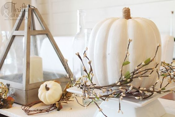White Fall Tablescape and easy decorating ideas