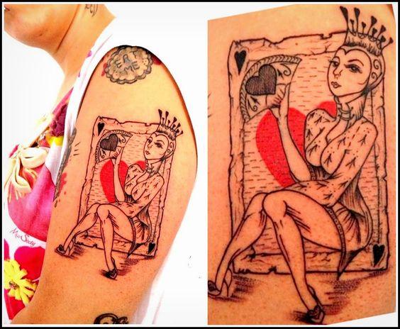 regina di cuori alice in wonderland tattoo