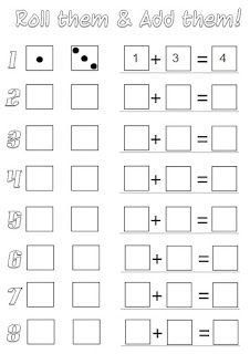 math worksheet : tried it roll and add will print off again grayson liked it we  : Dice Addition Worksheet