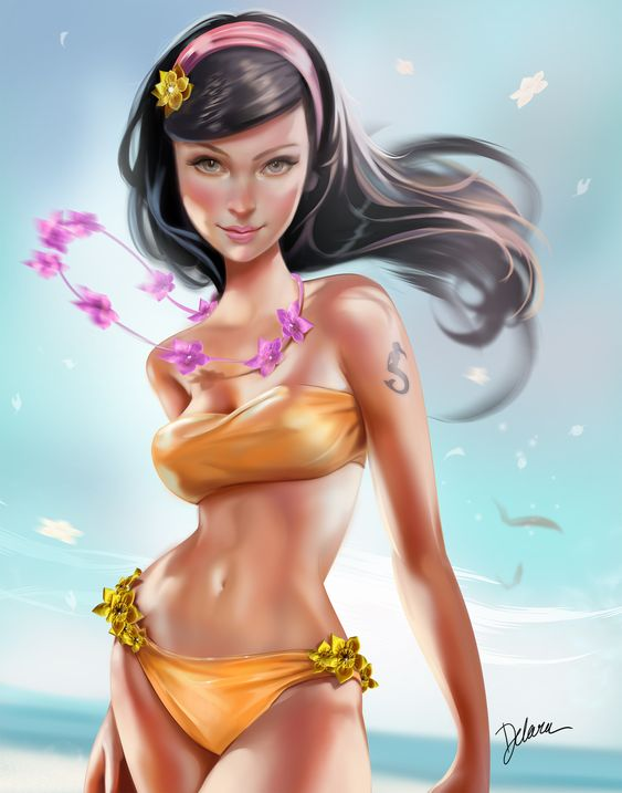 Summer Girl by Cris Delara | Pinup | 2D | CGSociety