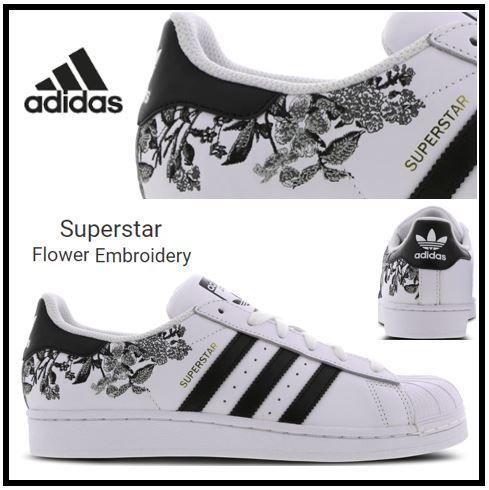 viuda Ópera porcelana  adidas SUPERSTAR Flower Patterns Low-Top Sneakers 315348675802-F by  FromLondon8
