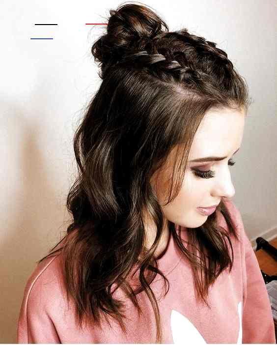 Coiffurecheveuxmilong In 2020 Medium Length Hair Styles Easy Hairstyles Medium Hair Styles