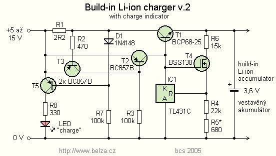 Li-ion Battery Charger for Mobile phone by TL431 | Electronic schematics | Pinterest | Phone