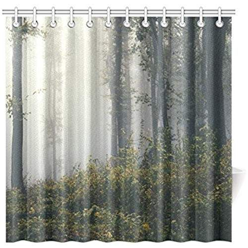 Birch Trees With Deer Shower Curtain By Zenandchic Cafepress