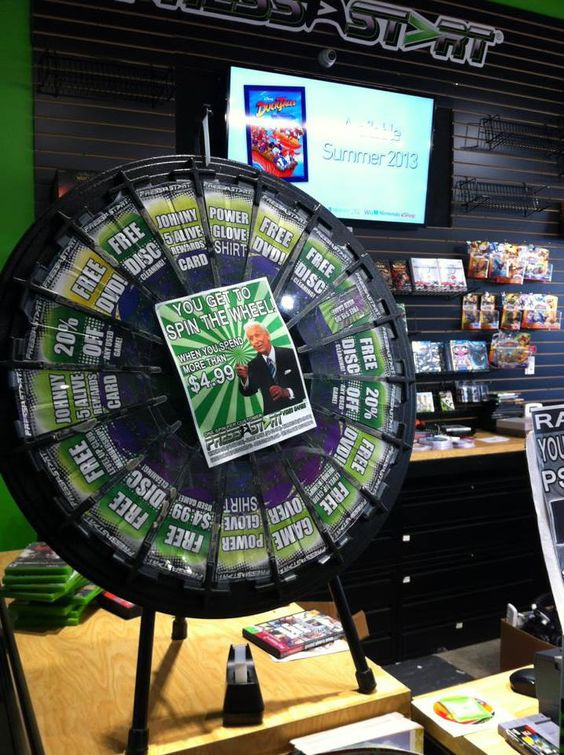 The prize wheel is in Winchester this weekend! Buy this Prize Wheel at http://PrizeWheel.com/products/floor-prize-wheels/floor-table-black-clicker-prize-wheel-18-slot/.