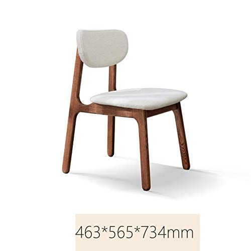 Xue Solid Wood Dining Chair Nordic Oak Home Soft Bag Chair Modern
