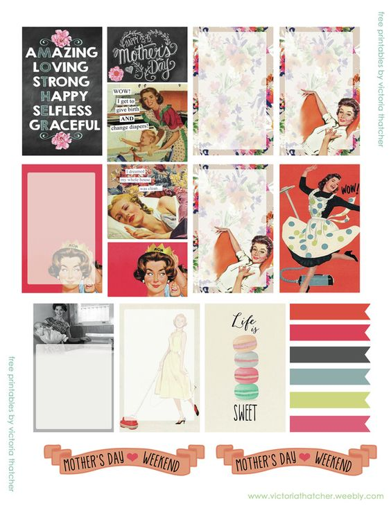 Free Mother's Day Printable Planner Stickers | Victoria Thatcher