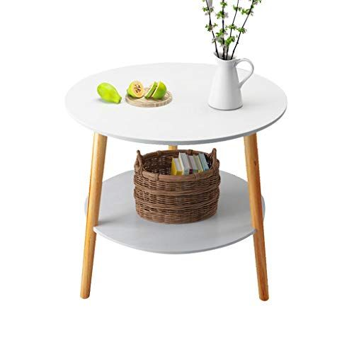 Double Layer Small Round Table Household Multifunction Living Room Sofa Side Table Bedroom Bedside Table Leisu Side Tables Bedroom Sofa Side Table Study Table