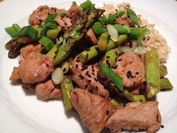 Pork & Asparagus Stir Fry | Recipe | Asparagus Stir Fry, Stir Fry and ...