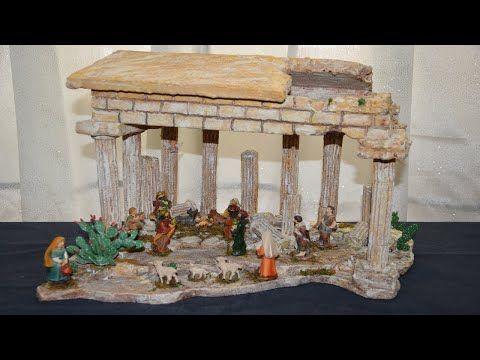 Fantastico Tempio Greco In Polistirolo E Gesso Per Presepe