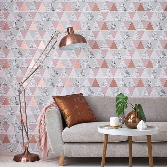 Bored By Your Plain Walls 40 Wallpapers To Kick Your Home Up A Notch Rose Gold Room Decor Rose Gold Rooms Rose Gold Wallpaper