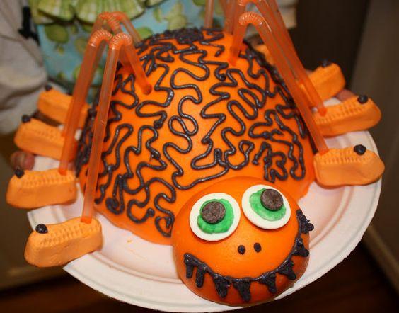 At Second Street: Halloween spider cake
