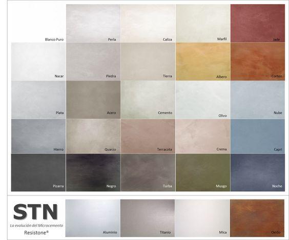 Colores microcemento microcemento pinterest - Encimeras de microcemento ...