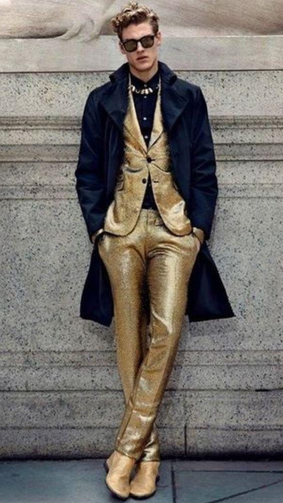 Men's gold suit