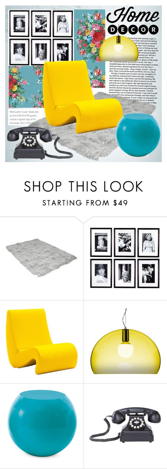 """""""****"""" by thysania ❤ liked on Polyvore featuring interior, interiors, interior design, home, home decor, interior decorating, Eichholtz, Vitra, Kartell and Cappellini"""