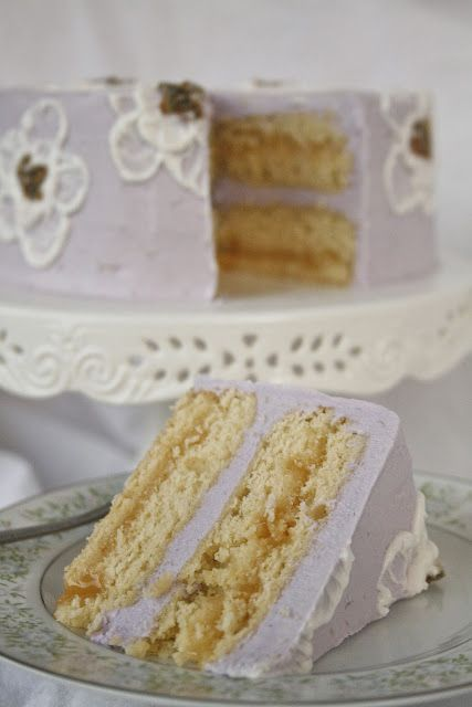 Lavender Chamomile Cake - made with Chamomile tea bags