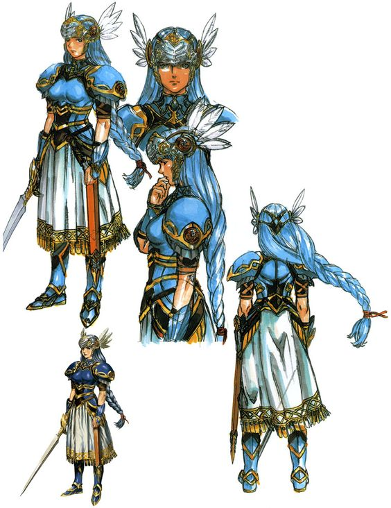 the main character lenneth her concept art was pretty