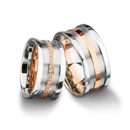 750 white-, red gold 10.00mm