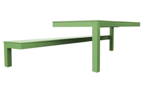 Unusual Collection 010 Outdoor Table and Bench by Guilielmus