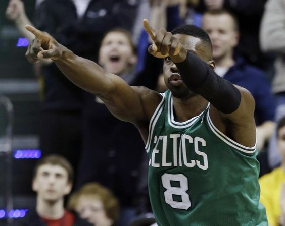 Big celebration from Jeff Green after comeback win vs. Pacers