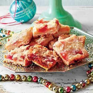 Ambrosia Streusel Bars with Shortbread Crust   MyRecipes.com sub ...