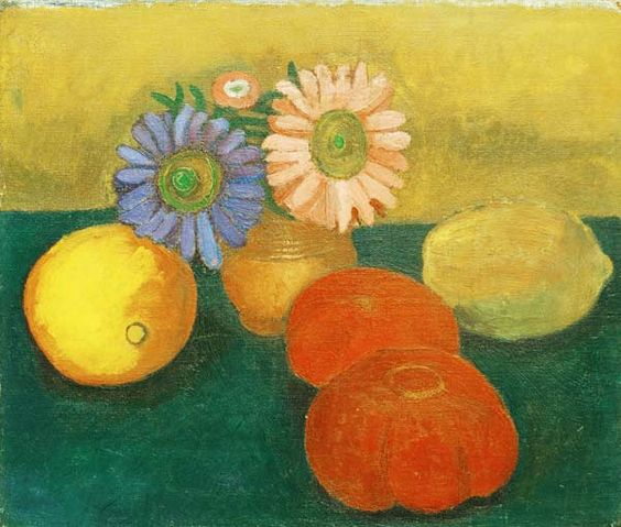 Paula Modersohn-Becker - German Expressionism - Still life with daisies - Stilleben Astern