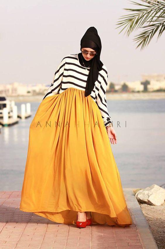 #hardal #sari #hijabi #maxi #skirt