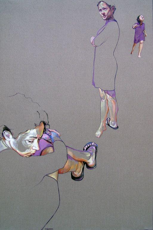 "Saatchi Online Artist: Cristina Troufa; Mixed Media, 2011, Painting """"Evolução"" (evolution)"""