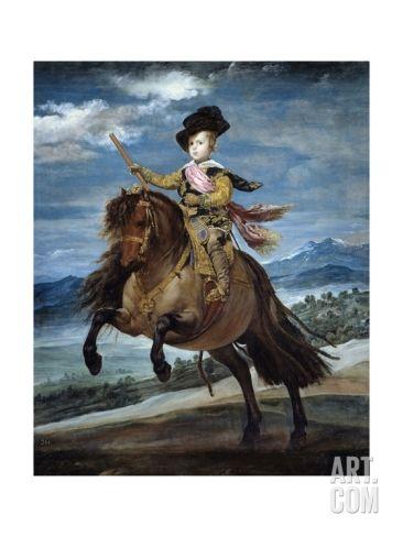 Equestrian Portrait of Prince Baltasar Carlos by Diego Rodriguez De Silva Y Velazquez Giclee Print at Art.com