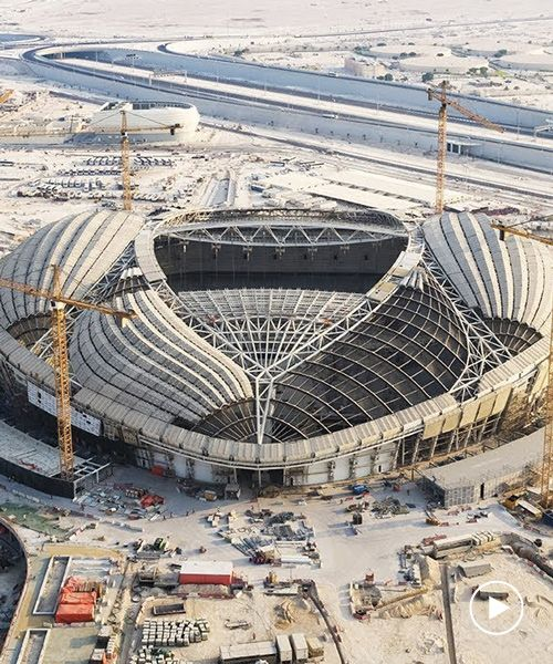 Zaha Hadid Designed Stadium In Qatar Nears Completion Ahead Of 2022 World Cup Zaha Hadid Design Zaha Hadid Stadium Architecture