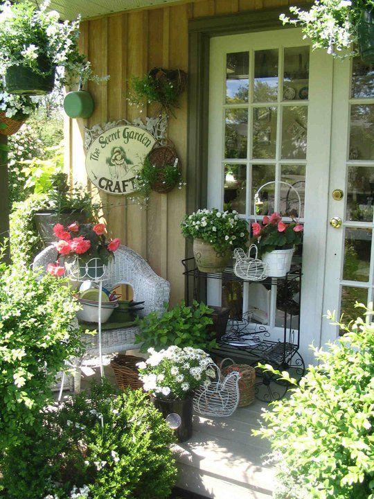 Cozy Little Porch....via Claudia's Casita