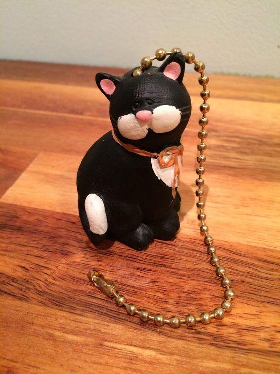Black Cat Ceiling Fan or Light Pull