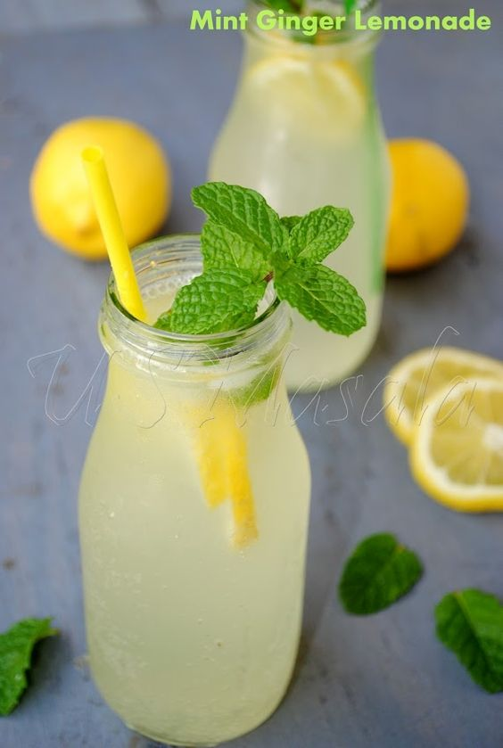 Mint Ginger Lemonade. Take awesome flavors and put them all together, what do you get? SUPER AWESOME!