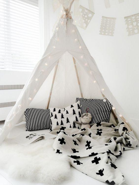 tipi #habitacion #bebe #nordica,Diseño nórdico,scandinavian nursery, ideas…: