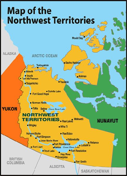 nunavut on a map of canada