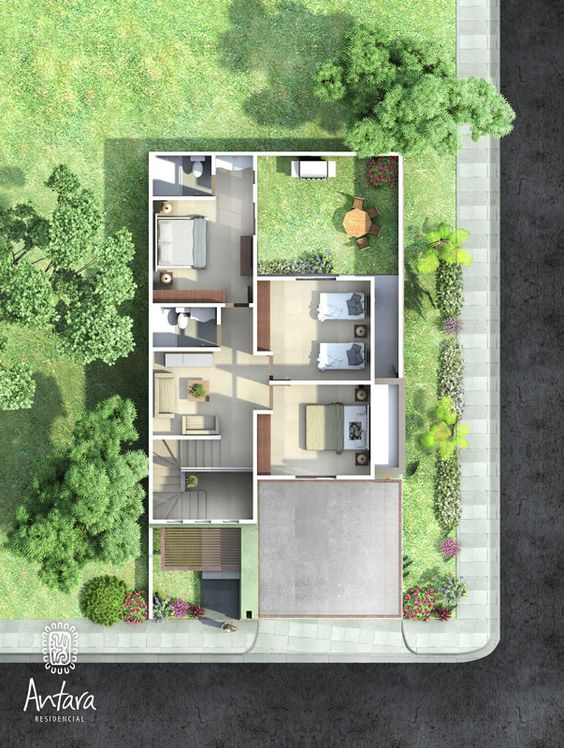Loft on pinterest - Planos de casas de dos pisos ...