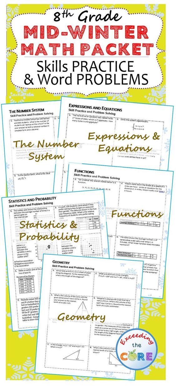 Algebra 1 Winter Packet Answers - algebra 1 winter interim ...