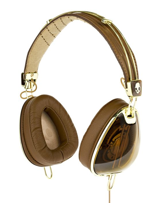 Skullcandy X Roc Nation Aviator Headphones - Brown Gold- I have These and Love them