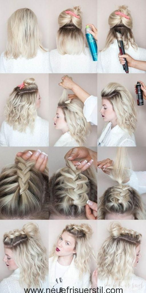 60 Einfach 5 Minuten Kurze Frisur Ideen Fur Vielbeschaftigte Damen Ne Geflochtene Frisuren Fur Kurze Haare Frisuren Kurze Haare Flechten Geflochtene Frisuren