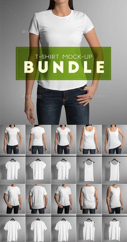 Download T Shirt Mock Up Bundle Clothing Mockup Tshirt Mockup Clothing Packaging