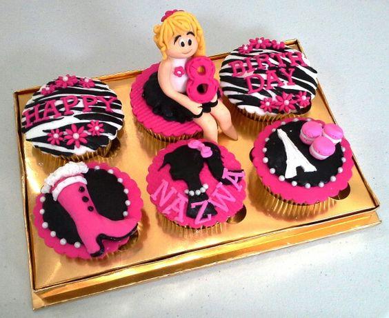 Barbie in Paris cupcakes