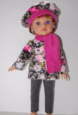 Pink-Grey-Jacket-Set-for-13-Les-Cheries-14-Hearts-4-hearts-Doll-Clothes-TKCT